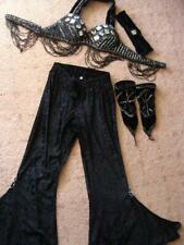 Belly Dance Black and Silver Pants Set