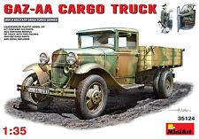 MiniArt 1/35 35124 WWII German/Soviet GAZ-AA Cargo Truck w/2 German Figures