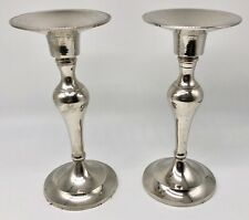 "Silver Plated 6.5"" Candle Holders"