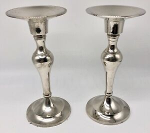 """Silver Plated 6.5"""" Candle Holders"""
