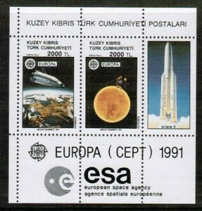 EUROPA CEPT 1991 - TURKISH CYPRUS  MNH - SPACE