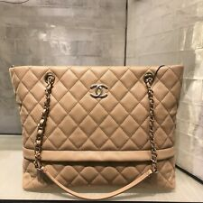 CHANEL - 2019 Caviar Quilted Rolled Up Tote Gold