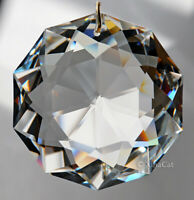 "Huge 8950-0051-50mm SWAROVSKI Dahlia Austrian Crystal Clear Prism SunCatcher 2"""