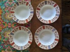 4 x Queen's Imari made in India porcelain dinner bowls