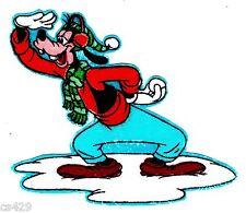 "3"" Disney goofy winter fabric applique iron on character"