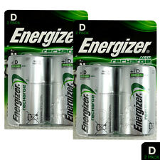 4 x Energizer Rechargeable D Size batteries Recharge Power NiMH 2500mAh LR20