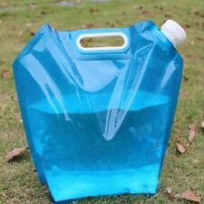 Saling 5L Collapsible Foldable Water Bag Storage Lifting Hiking Survival Bottle