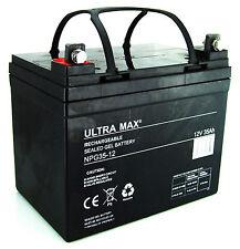 2 X Ultra Max 12V 35Ah - Pride, SHOPRIDER, INVACARE, Freerider, Rascal batteries