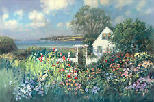 """Cottage by the Sea"" Paul Landry Fine Art Giclee Canvas - Cape Cod Cottage"