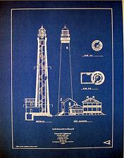 Lighthouse Pensacola Florida Builders Blueprint Display Plan 16x20  (271)