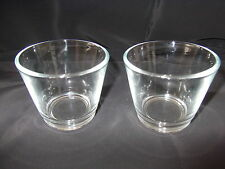 2 Pairs of Glass Tealight Holders