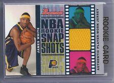 2006-2007 Bowman Basketball James White NBA Rookie Snap Shots Relics RC #182/199