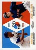 2014 Topps Heritage Then and Now #TANWE Maury Wills / Jacoby Ellsbury