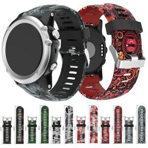 Silicone Wrist Band Print Strap Watch Bracelet 22mm Garmin Fenix 5 26mm Fenix 3