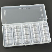 Empty 25 Space Nail Art Tips Deco Gems Rhinestone Storage Clear Box Case 363K