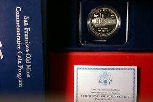 2006 S San Francisco Old Mint US Mint (90%) Silver Proof Dollar Commemorative