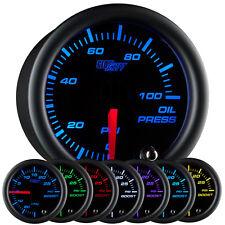NEW 52mm GlowShift Black 7 Color Electronic Oil Pressure PSI Gauge Meter