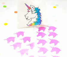 20 Pink Unicorn Glitter Stickers Rainbow Birthday Party Favours Envelope Seals