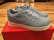 NIKE NIKELAB AIR FORCE 1 LOW BLUE GREY WHITE LEATHER 905618 400 SIZE 8.5