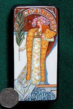 Russian hand painted LACQUER BOX Gismonda Sarah Bernhard MUCHA Reproduction GIFT