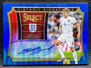 2015-16 Panini Select =Steven Gerrard= BLUE Historic AUTO #'d /20 England RARE