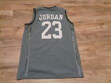 Michael Jordan Air Jordan Basketball Jersey Youth Size L # 23 RN 81917 Gray