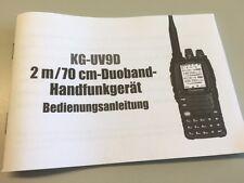 Deutsche manual de instrucciones para Wouxun kg-uv9 transceiver-el original!