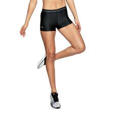Under Armour Womens HeatGear Shorty Black Sports Gym Breathable Lightweight