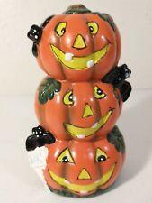 K's Collection Ceramic Pumpkin Halloween Bats