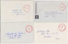 TASMANIA  1978/90: four small commercial covers with PAID postmarks