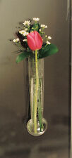 Window Vase Single Bulb Style Made of Flexible Vinyl Fill with Water and Stems