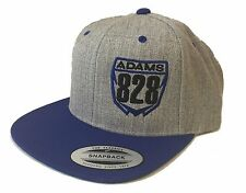 MOTOCROSS HAT CUSTOM NUMBER JUST RIDE MOTO FLAT BILL SNAPBACK MX BLUE YZ YAMAHA