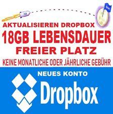 Dropbox Permanent 18 GB Drive Storage online Cloud Lifetime Speicherplatz-Hostin