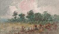 IMPRESSIONIST TREES IN LANDSCAPE Watercolour Painting MARCUS ADAMS c1930