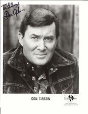 DON GIBSON  DARK JACKET SIGNED PHOTO AUTOGRAPHED W/COA 8X10