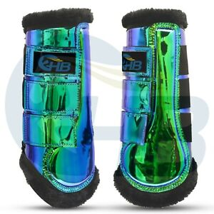 Green Holographic Tendon Boots Set