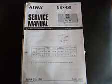 ORIGINALI service manual AIWA nsx-d9
