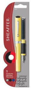 Sheaffer Calligraphy Pen  Viewpoint Yellow with 2 ink cartridges Medium Pt