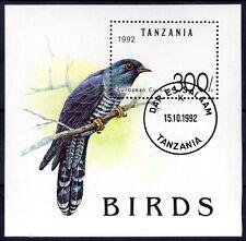 0203+ TIMBRE TANZANIE  BLOC  OISEAUX  1992