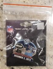 NEW YORK JETS VS TENNESSEE TITANS GAME DAY PIN 12/2/18 Free Shipping
