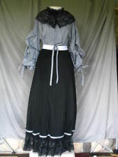 Victorian Dress Edwardian Civil War Style Black and White