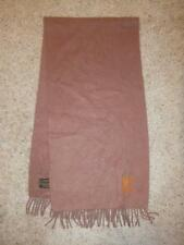 Louis Vuitton Light Brown 100% Cashmere Scarf LV Fringe