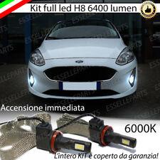 KIT FULL LED H8 FORD FIESTA MK7 LAMPADE FENDINEBBIA CANBUS 6400 LUMEN 6000K