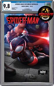 MILES MORALES SPIDER-MAN #20 POLICE VARIANT CGC 9.8 RED HOT