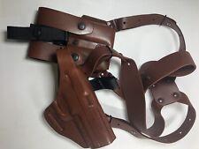 Horiz Falco Lg Pistol Shoulder Holster Govt 1911 Dbl XL Mag Pouch Harness RH TB