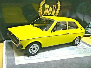 VW Volkswagen Polo MKI 1. Baureihe gelb Typ 86 1975 - 1981 BoS Resin 1:18