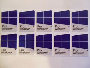 6 x Windows 10 Pro Sticker Badge Logo Decal for laptop PC - HD Quality (blue1)