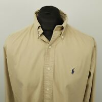 Polo Ralph Lauren Vintage THICK Shirt Light Denim RELAXED LOOSE UK LARGE (US M)