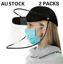 X 2 Anti-Saliva Baseball Cap Full Face Soft Protective Shield Mask Fisherman Hat