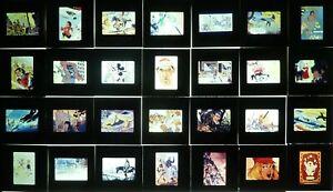 DIAPOS DE BANDE DESSINÉE 28 DIAPOSITIVES 24 X 36 DES ANNÉES 1970 SÉRIE 3